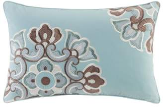 Natori N Fretwork Aqua Tall Oblong Pillow