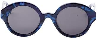 Non Signé / Unsigned Non Signe / Unsigned Navy Plastic Sunglasses