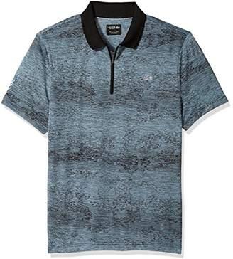 Lacoste Men's Short Sleeve Jersey Tech All Over Print Zip Placket Polo