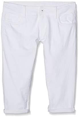 Pepe Jeans Girl's Scarla Crop Swim Shorts, White, (Manufacturer Size: 14)