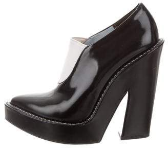 Alexander Wang Patent Leather Pointed-Toe Booties