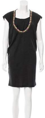 Megan Park Embellished Wool Dress