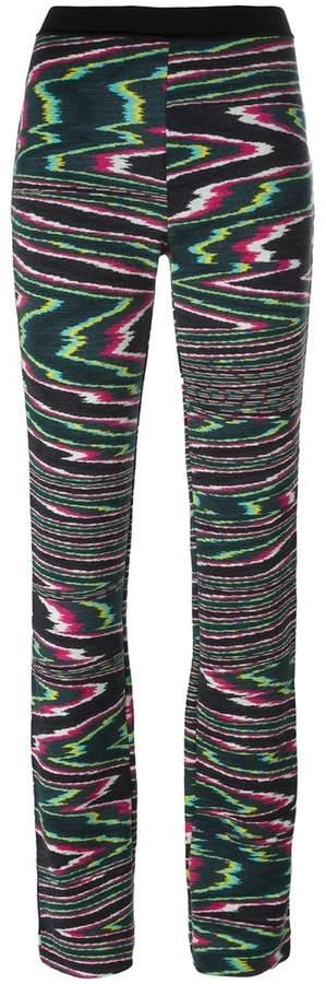 Missoni elastic waistband flared trousers