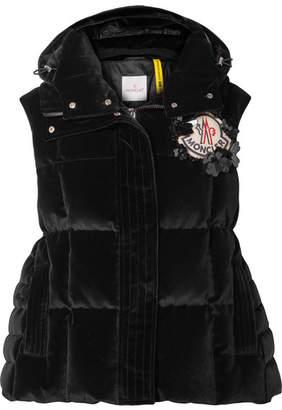 Simone Rocha Moncler Genius + 4 Appliquéd Quilted Cotton-velvet Down Vest