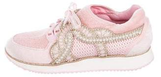 Sophia Webster Royalty Embellished Sneakers w/ Tags