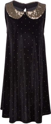 Epic Threads Big Girls Sequin Collar Velvet Dress
