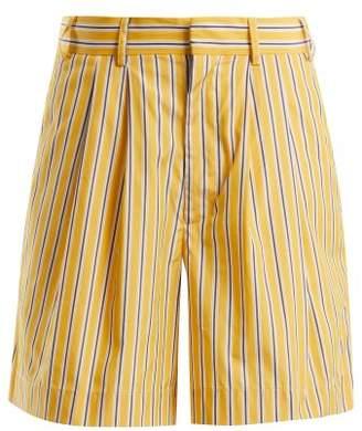 Raey Deck Chair striped-cotton shorts
