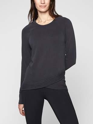 Athleta Serenity Criss Cross Sweatshirt
