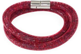 Swarovski Stardust Convertible Crystal Mesh Bracelet/Choker, Red, Medium