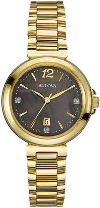 Bulova 30mm Bracelet Watch w/ Diamonds $265 thestylecure.com