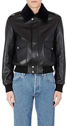 Loewe Men's Shearling-Collar Moto Jacket