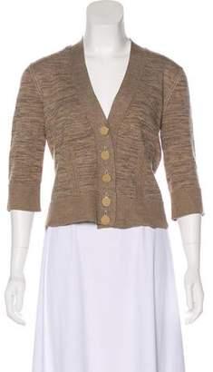 Fendi Medium-Weight Long Sleeve Cardigan