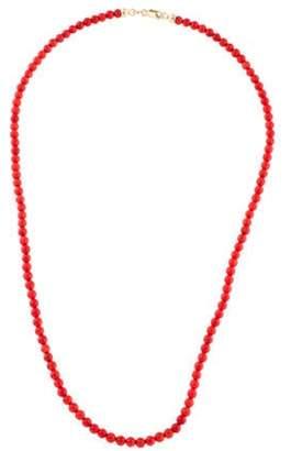 14K Coral Bead Necklace coral 14K Coral Bead Necklace