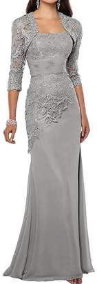 CaliaDress Women Mermaid Mother of the Bride Dress Long with Jacket C269LF US
