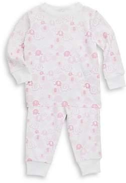 Kissy Kissy Baby Girl's & Little Girl's Endearing Elephants Cotton Pajama Set