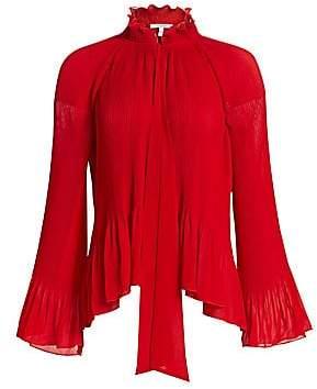 Derek Lam 10 Crosby Women's Pleated Bell Sleeve Blouse