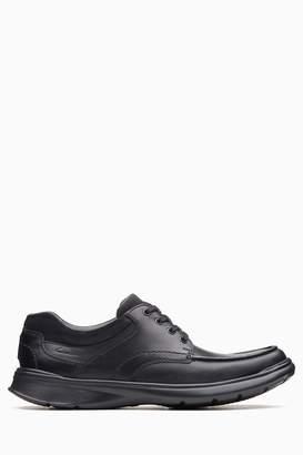 b2e95a664b8d Next Mens Clarks Wide Fit Black Cotrell Edge Shoe