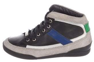 Christian Dior Boys' Leather High-Top Sneakers