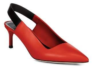 Via Spiga Women's Blake Leather Slingback Kitten Heel Pumps