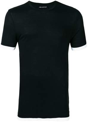 Neil Barrett contrast trim T-shirt