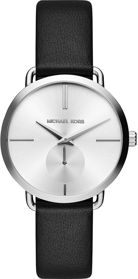 MICHAEL Michael Kors Michael Kors MK2658 stainless steel and leather watch