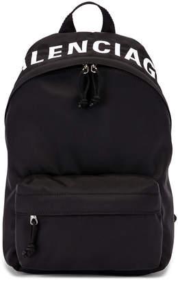 Balenciaga Small Wheel Backpack in Black & Black | FWRD