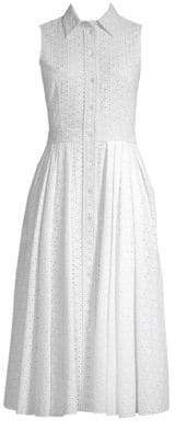 Michael Kors Sleeveless Eyelet Shirt Dress