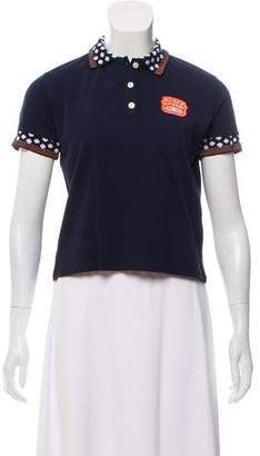 MAISON KITSUNÉ Short Sleeve Polka-Dot Top