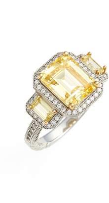 Lafonn 'Lassaire' Yellow Three Stone Ring