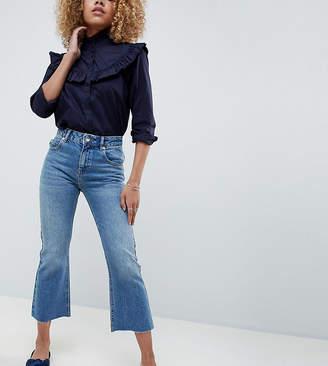 Asos DESIGN Petite Egerton rigid cropped flare jeans in vintage mid wash