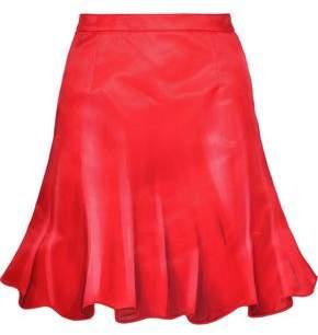 Moschino Printed Cotton And Silk-blend Mini Skirt