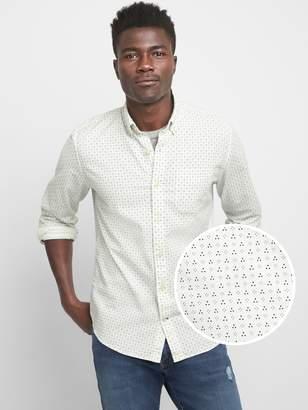 Gap Pattern Oxford Shirt in Stretch