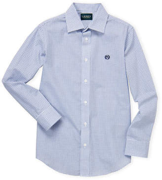 Lauren Ralph Lauren Boys 8-20) Windowpane Sport Shirt