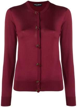 Dolce & Gabbana rose button cardigan