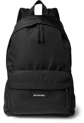 Balenciaga Explorer Logo-Detailed Canvas Backpack - Black