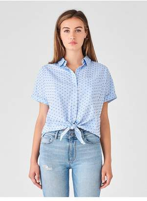 DL1961 Chrystie St Top | Blue Dotted