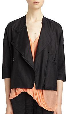 Helmut Lang Lacquered Overlap Jacket