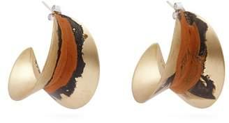 Albus lumen Albus Lumen - X Ryan Storer Painted Hoop Earrings - Womens - Orange
