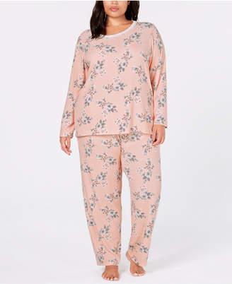 Charter Club Plus Size Thermal Fleece Pajama Set, Created for Macy's