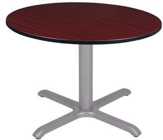 """Regency Via 48"""" Round X-Base Table- Mahogany/Grey"""