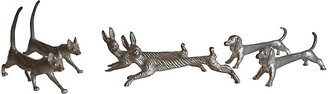 One Kings Lane Vintage Dog - Cat & Rabbit Knife Rests - Set of 6 - The Montecito Collection