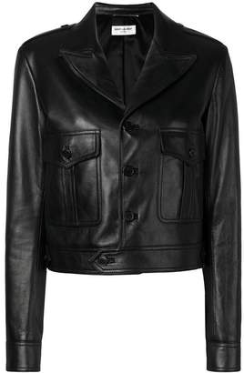 Saint Laurent cropped biker jacket