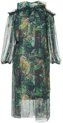 Kolor tropical print layered dress