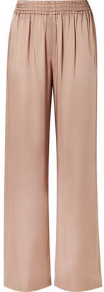 Jonathan Simkhai Lace-paneled Satin Wide-leg Pants - Neutral