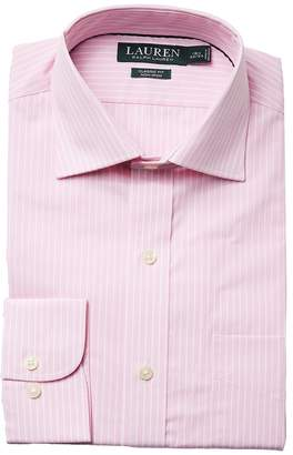 Lauren Ralph Lauren Classic Fit Non Iron Poplin Stripe Spread Collar Dress Shirt Men's Long Sleeve Button Up