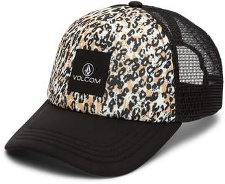 Volcom Buds for Life Leopard Print Trucker Hat