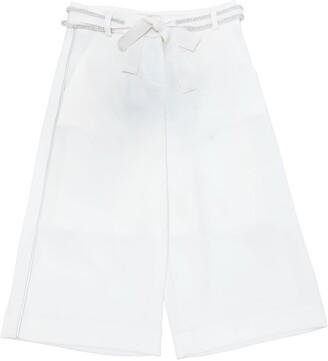 Cotton Crepe De Chine Wide Leg Pants