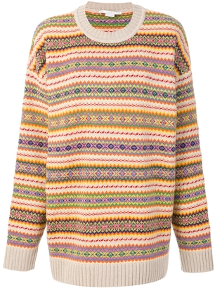 Patterned Intarsia Sweater