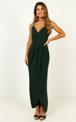 Showpo Gave Me You Dress in emerald - 4 (XXS) Dresses