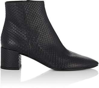 Saint Laurent Women's Lukas Python Ankle Boots
